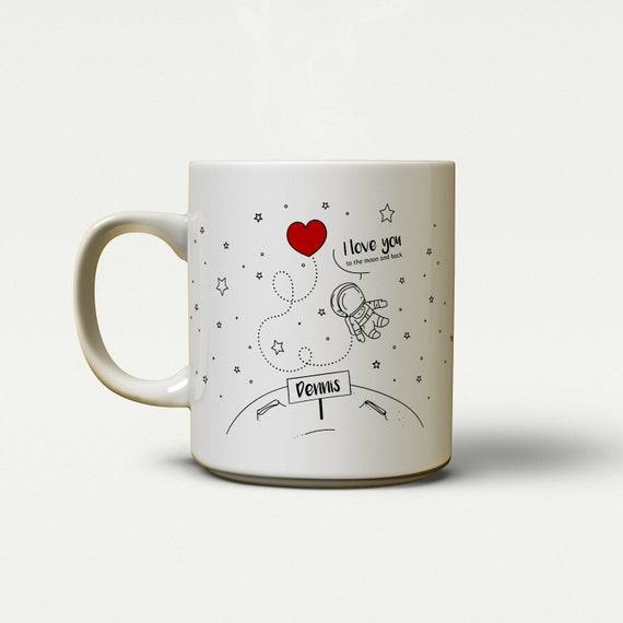 "Tasse ""Love to the Moon and back"" (personalisiert) 