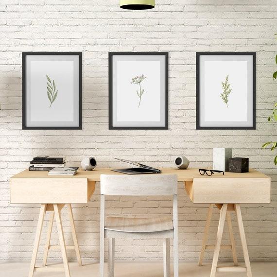"Poster | Print | Kunstdruck ""Watercolor Plants"" | Set mit 3 Motiven | DIN A4"