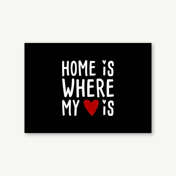 "Postkarte ""Home is where my Heart is"" 