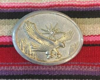New Mens Western Cowboy Cowgirl Gold Longhorn Eagle//Falcon//Hawk Shiny Leather Belt