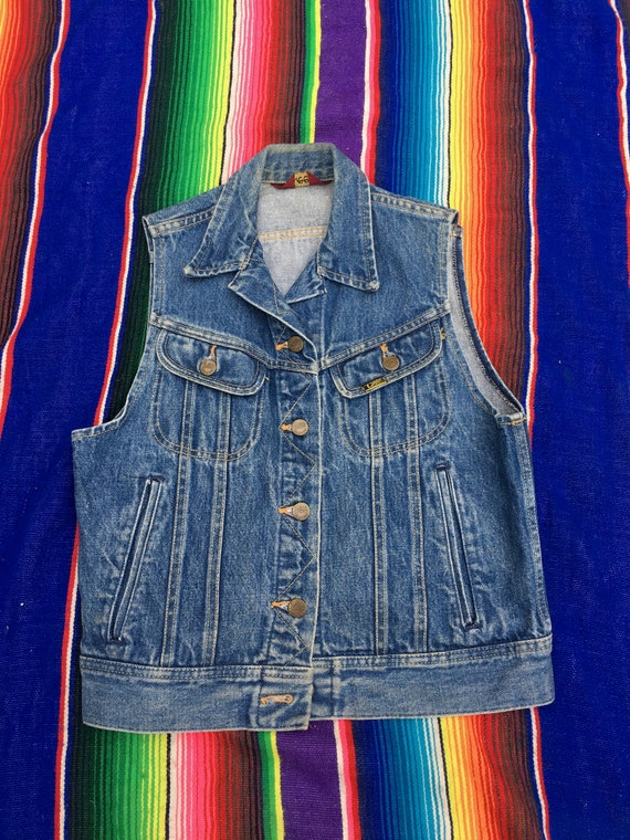 1970s 1980s Vintage Ms Lee Riders Denim Blue Jean