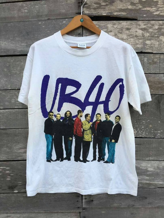 Vintage english pop band shirt tour asia promo UB40 reggae 4Aw1F