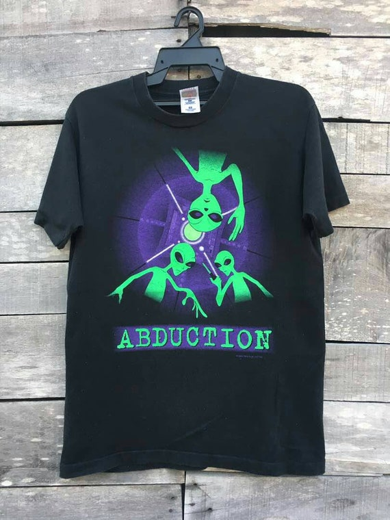 90s abduction science fiction alien victim shirt Vintage fashion ntaq4T8z4w