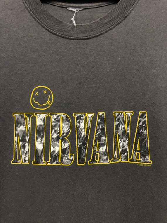 vintage nirvana smiley face corporate rock kurt co