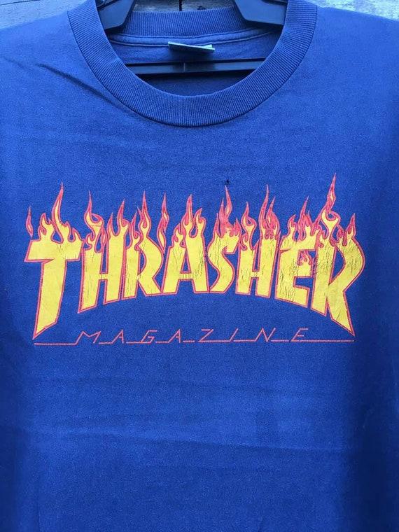 thrasher Vintage 90s long shirt slevee BqUSFxq