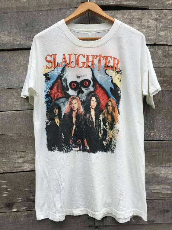 Vintage promo stones tour maiden high shirt iron fashion streetwear slaughter rolling 80s P7w5rPq