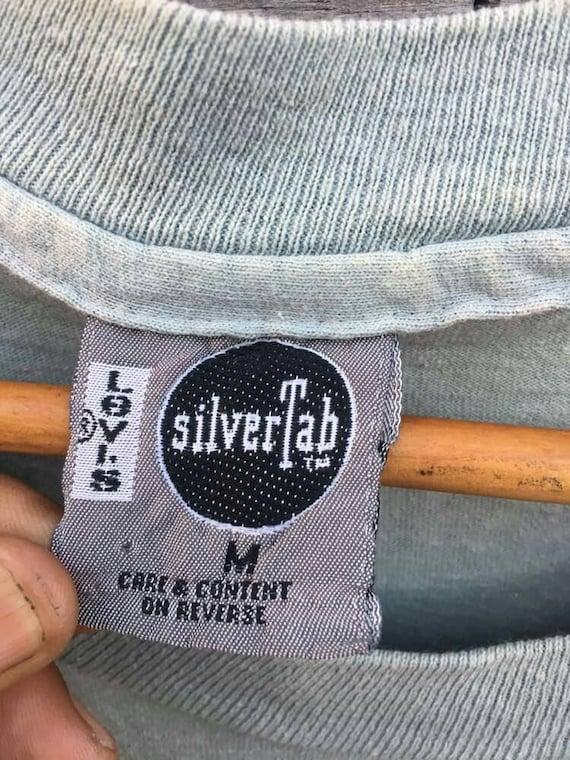 shirt silver full Vintage print tab 90s front promo levis wEwI8H