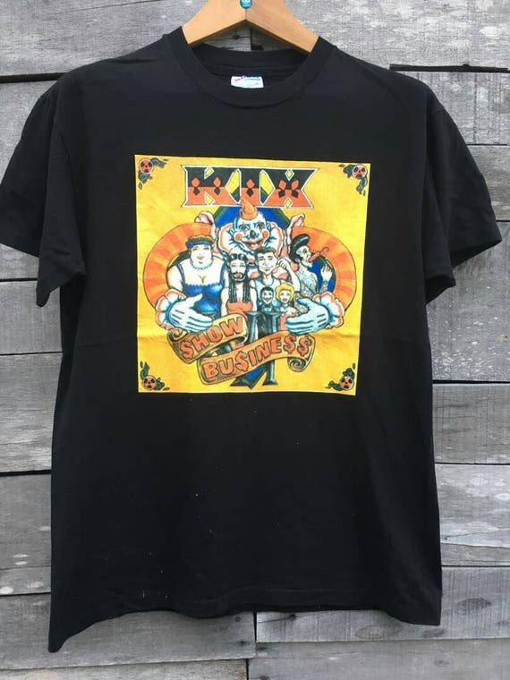 90s japan tour promo band Kix shirt Vintage xqgwIBOC