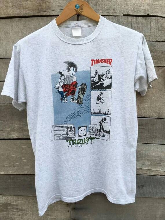 Rare vintage thrasher thrust skate powell santa cruz 90s t shirt 52c1d9f39