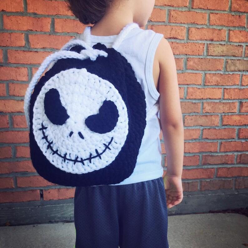 Jack Skellington Backpack Crochet PATTERN  Nightmare Before image 0