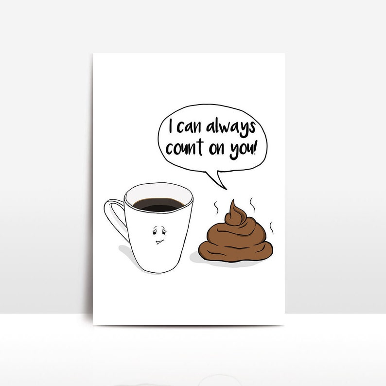 funny poop card I can always count on you accountant gift funny best friend card