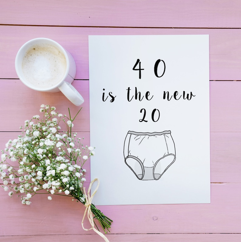 Funny 40th Birthday Card For Her