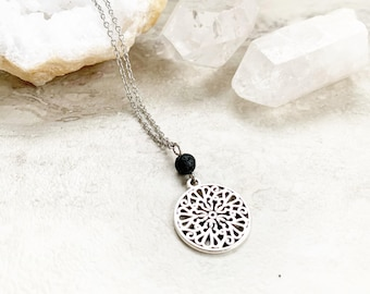 Diffuser necklace for her, old fashioned necklace, necklace for essential oils, gift for her, gift for essential oil lovers, care package