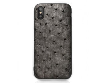 new product 969d3 7c28a Ostrich leather case   Etsy