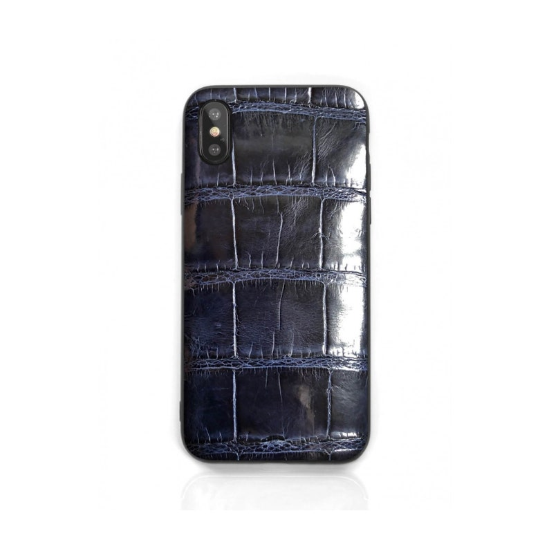 sale retailer 9ff30 b4f46 Ultra Thin Crocodile iPhone X / XS / XR / XS Max Case • Genuine Croc Luxury  Gift • Made in Italy from Ethical Italian Exotic Leather