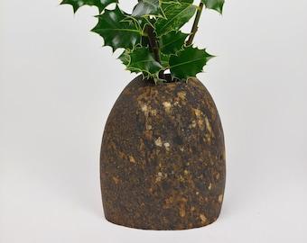Stone Vase, Rustic Vase, Natural Rock Vase