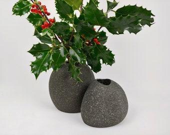 Stone Vases, Beach Stone Vases, Rock Vases