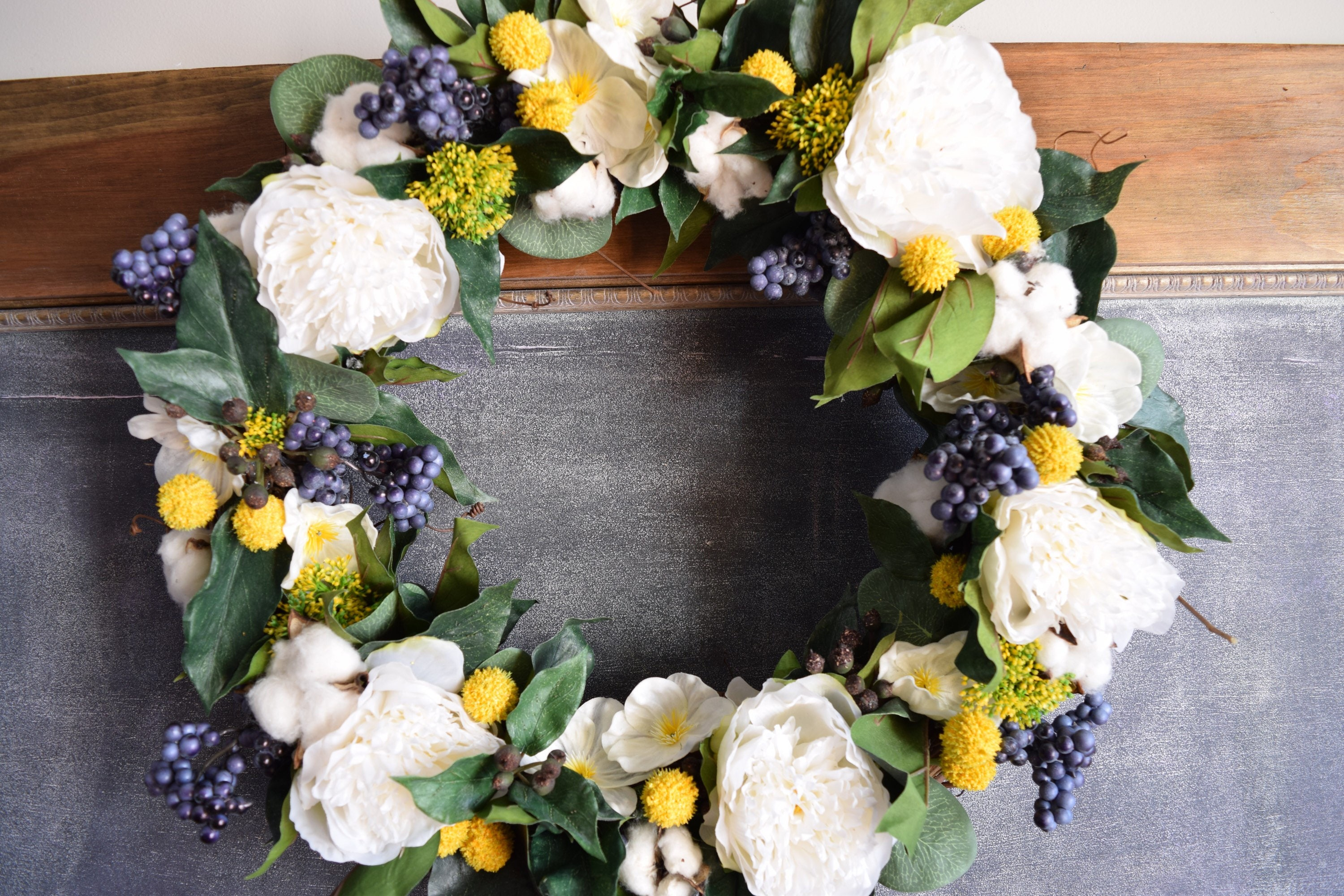 The Mountainside Wreath, Spring Wreath, Floral Wreath, Front Door Wreath,  Faux Floral Wreath, Silk Flowers