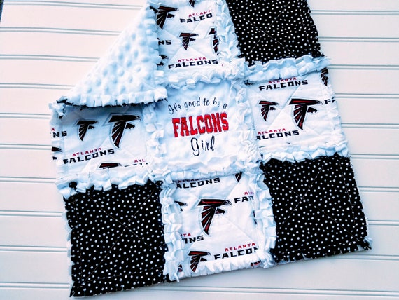 competitive price 18f1c f8ef7 Atlanta Falcons Minky MINI or CRIB Rag Quilt or Nursery Bedding Set - It's  Good To Be a Falcons Girl, Boy, Baby or Fan