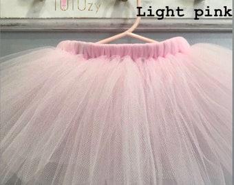 Solid Blush Pink Ballerina Princess Baby Girl Newborn Tutu - Ballet 1st First Birthday Party Cake Smash Tutu - Newborn Photo Shoot Tutu Prop