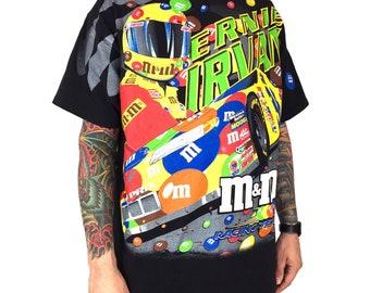 855b9fd9 Vintage 90s 1999 99 NASCAR Ernie Irvan M&M's all over print race racing  graphic tee t-shirt shirt - Size XL