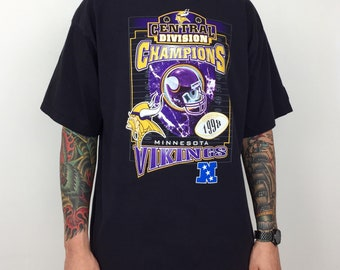 673a17384 Vintage 90s 1998 98 Starter NFL Minnesota Vikings Central Division Champs  Champions football graphic tee t-shirt shirt - Size XL