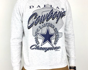 Vintage 90s 1992 92 NFL Dallas Cowboys NFC East Champs Champions raglan  pullover crewneck football graphic sweatshirt - Size S 2b47865b6