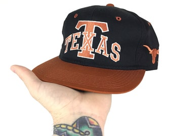 Vintage 90s NCAA UT University of Texas Longhorns Cardinal Cap Youngan  spell out college snapback hat 1aed370c0566