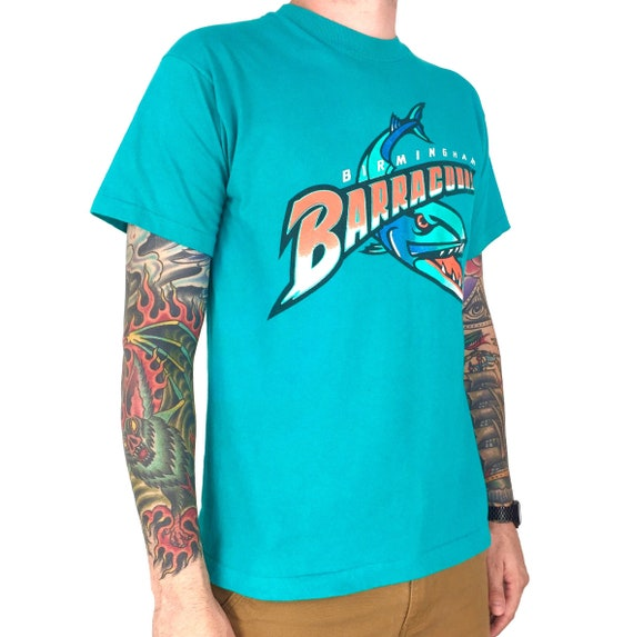 Vintage 90s CFL Birmingham Barracudas Canadian Football League single stitch Made in USA graphic tee t-shirt shirt - Size M