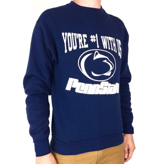 Vintage 90s NCAA Pennsylvania Penn State University Nittany Lions pullover crewneck college graphic sweatshirt - Size S-M