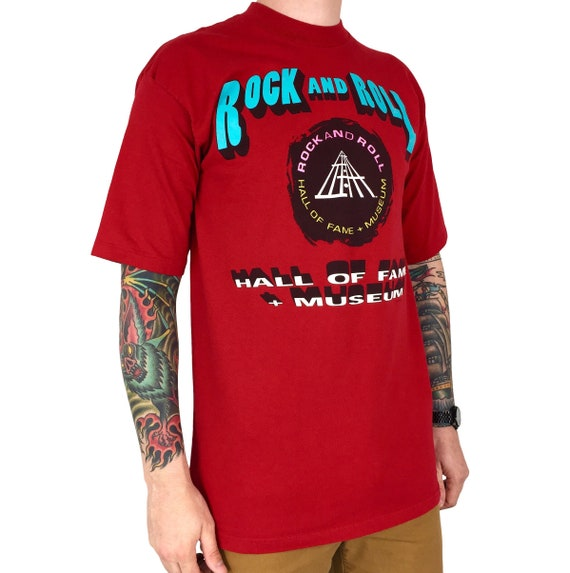 Vintage 90s 1995 95 Rock and n Roll Hall of Fame Museum Cleveland Ohio single stitch Made in USA graphic tee t-shirt shirt - Size M