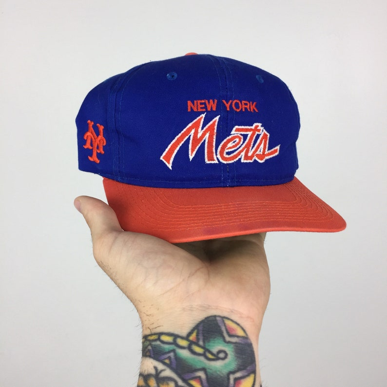 6fc27e3a2d1 Vintage 90s Sports Specialties MLB New York Mets Twill two