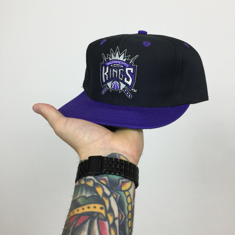 wholesale dealer a57d9 942dc ... shopping deadstock vintage 90s nba sacramento kings logo 7 plain logo  basketball snapback hat 1b0e2 26cbb
