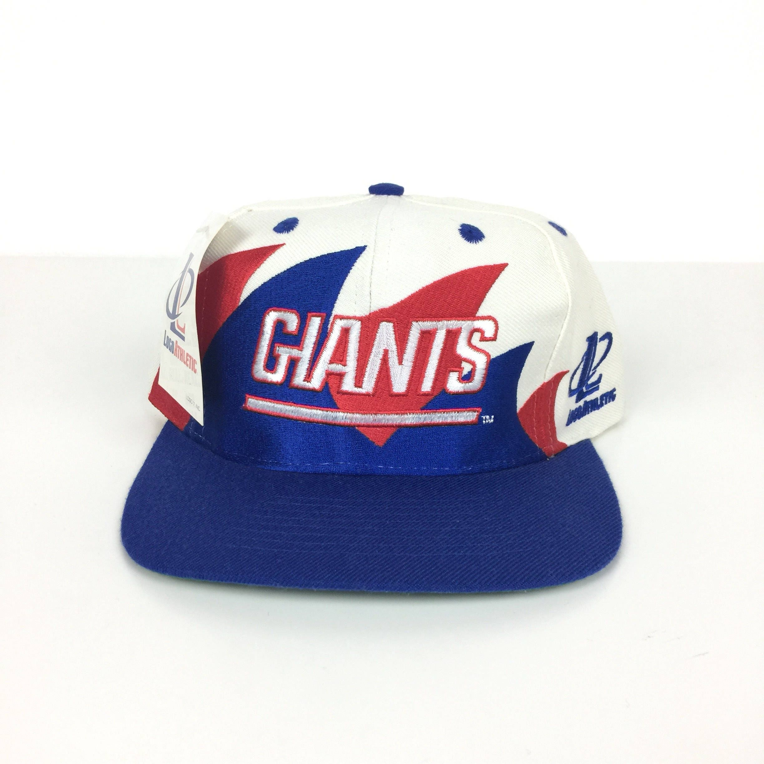 Deadstock Vintage 90s Logo Athletic NFL New York Giants Double Sharktooth  shark tooth football snapback hat 60b0f9795