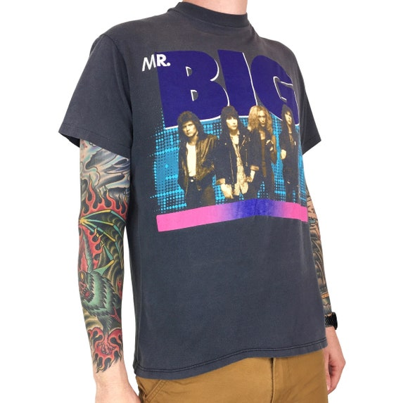 Rare Vintage 80s 1989 89 Mr Big Addicted to that Rush single stitch Made in USA band tour concert graphic tee t-shirt shirt - Size M
