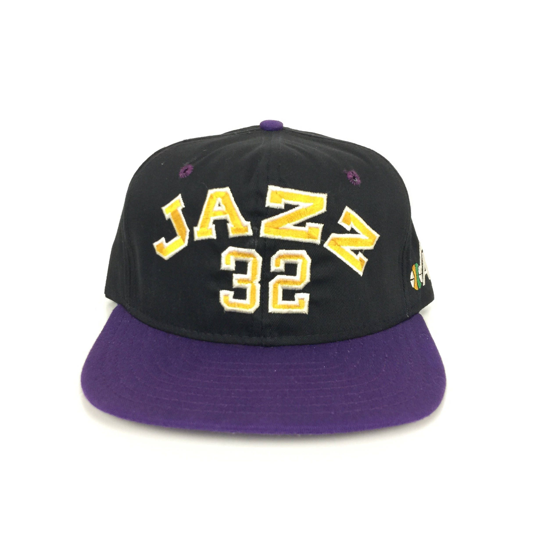 3b030ac6900015 Vintage 90s NBA Utah Jazz Karl Malone #32 AJD player cap basketball  snapback hat