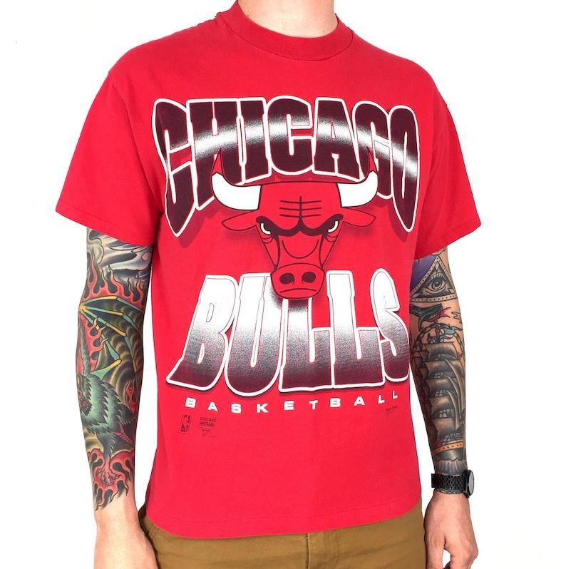 967a0c4b95dbae Vintage 90s NBA Chicago Bulls Team Hanes Made in USA single