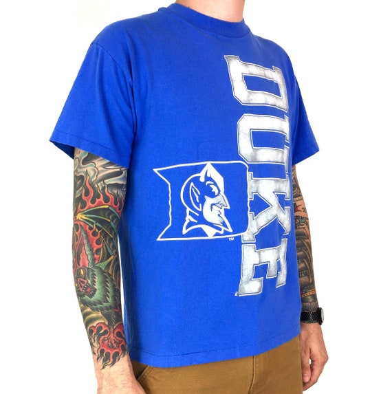 Vintage 90s NCAA Duke University Blue Devils single stitch Made in USA college graphic tee t-shirt shirt - Size M