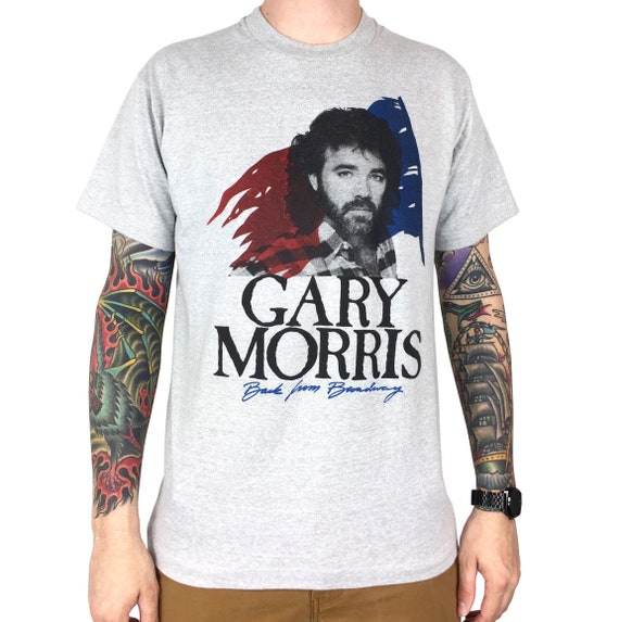 Vintage 80s Gary Morris Back from Broadway Les Miserables single stitch band tour country music graphic tee t-shirt shirt - Size L