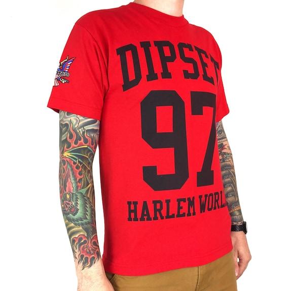 Rare Vintage The Diplomats Dipset Harlem  World Capo Camron Jim Jones rap tee hip hop double sided tour graphic t-shirt shirt - Size M