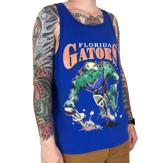 Vintage 90s NCAA University of Florida Gators single stitch Made in USA college graphic tank top graphic tee t-shirt shirt - Size L-XL