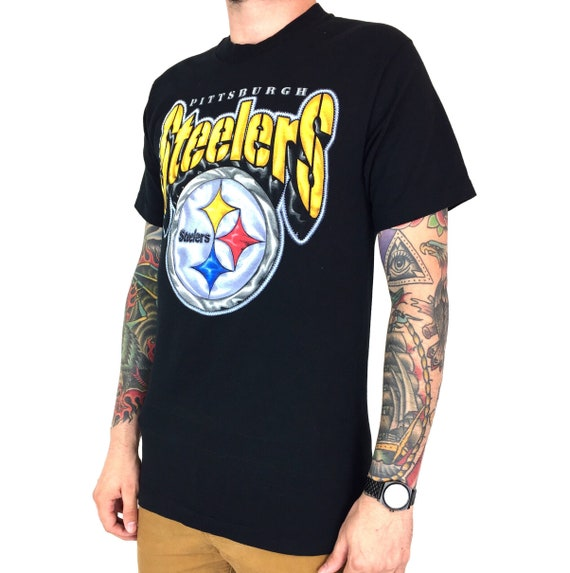 Vintage 90s NFL Pittsburgh Steelers single stitch Made in USA football graphic tee t-shirt shirt - Size M