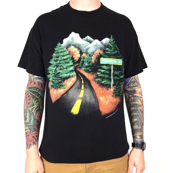 Rare Vintage 90s 1992 92 Brockum Peter Frampton North American Tour single stitch band tour graphic tee t-shirt shirt - Size L