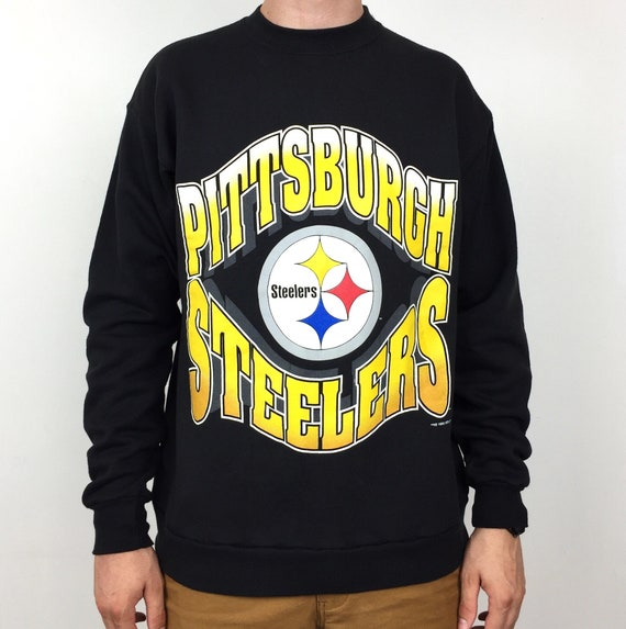 0d3af2f65 Vintage 90s 1995 95 NFL Pittsburgh Steelers spell out pullover