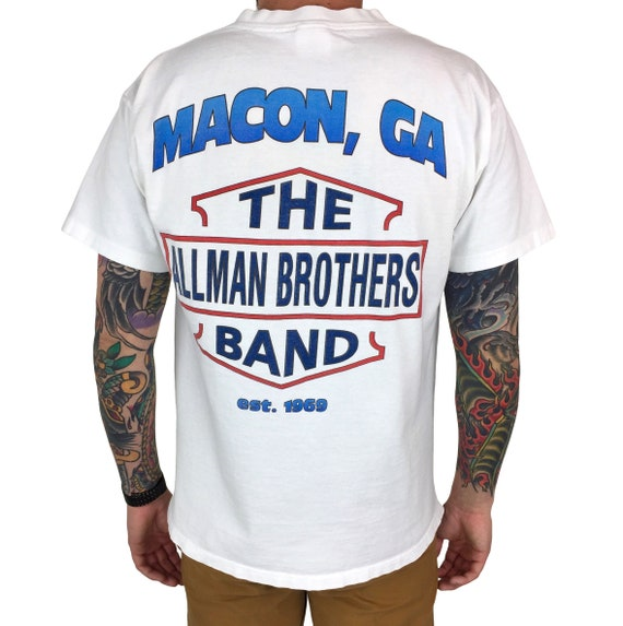 Rare Vintage 90s 1995 95 The Allman Brothers Band Where It All Begins Harley single stitch band concert graphic tee t-shirt shirt - Size L