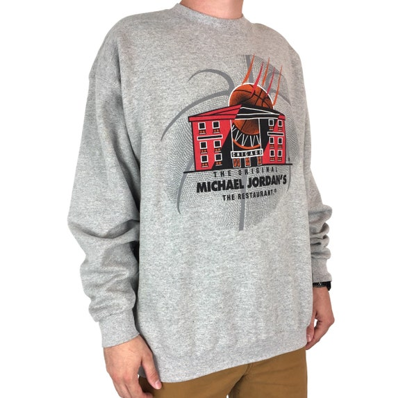 Deadstock NWT Vintage 90s Nike Michael Jordan Restaurant Made in USA pullover crewneck basketball graphic sweatshirt - Size XL
