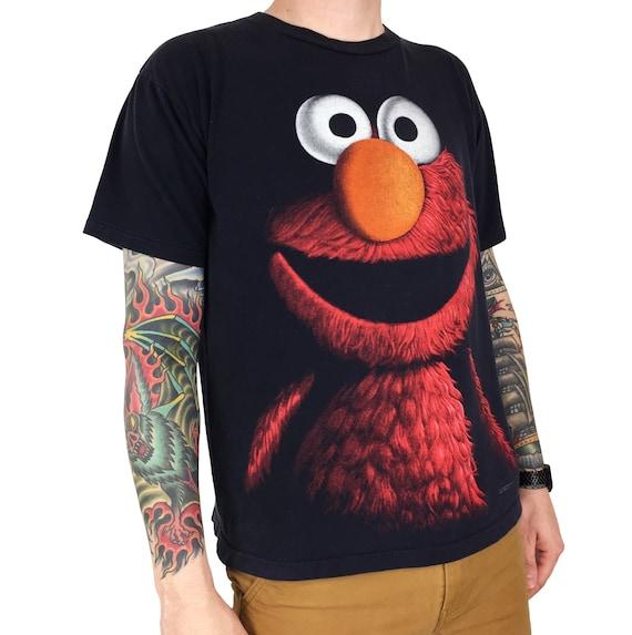 Vintage 90s Elmo Sesame Street Jim Henson Changes single stitch TV promo promotional graphic tee t-shirt shirt - Size L
