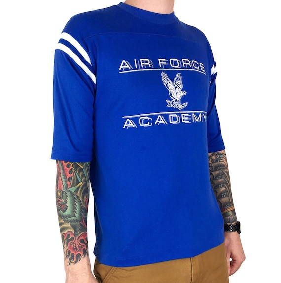 Vintage 80s Air Force Academy military single stitch Made in USA half sleeve graphic tee t-shirt shirt - Size M