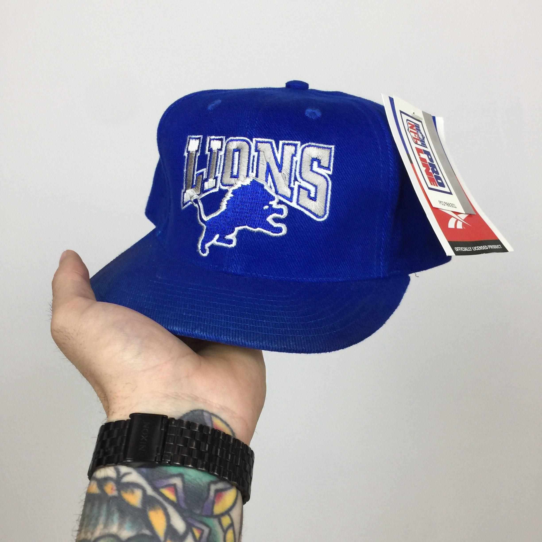 d23096ed Deadstock Vintage 90s NFL Detroit Lions Reebok football snapback hat