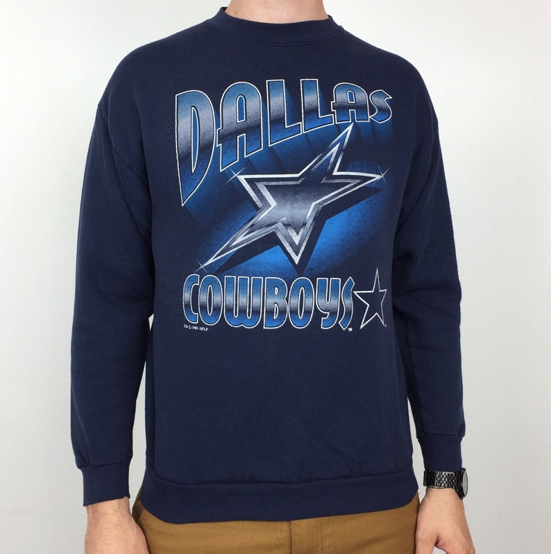 Vintage 90s 1995 95 NFL Dallas Cowboys navy blue pullover  b4e55d639